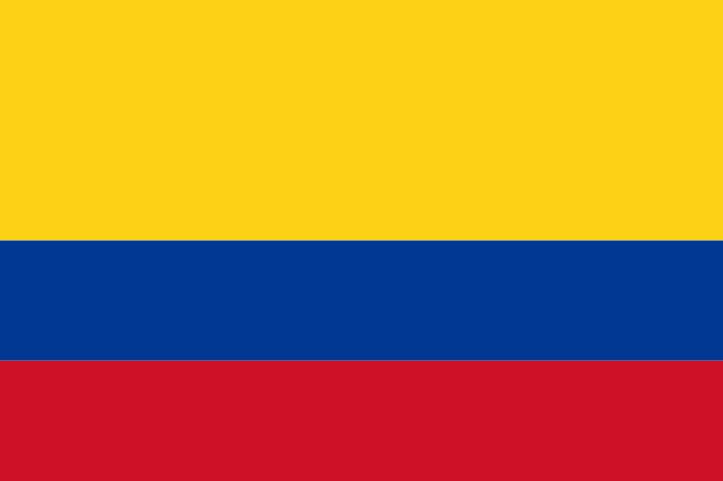 ハンモックの生まれ故郷コロンビアの旗